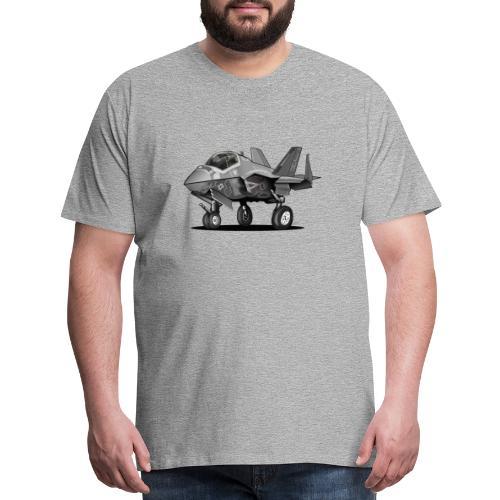 F-35C Lightning II Joint Strike Fighter Il Cartoon - Men's Premium T-Shirt