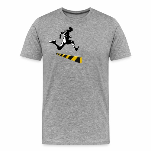 Leaping The Bounds of Caution - Men's Premium T-Shirt