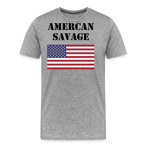 American Savage Shirt - Men's Premium T-Shirt