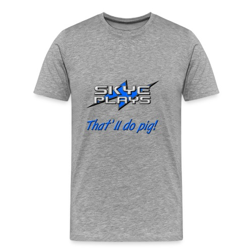 Skye Plays TDP Blue 800ppi png - Men's Premium T-Shirt