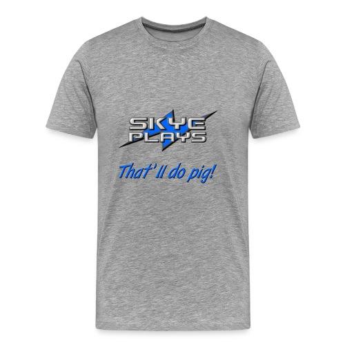 Skye Plays TDP Blue 800ppi png - Men's Premium T-Shirt
