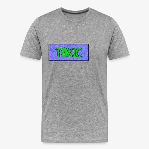 Toxic design v2 Blue - Men's Premium T-Shirt