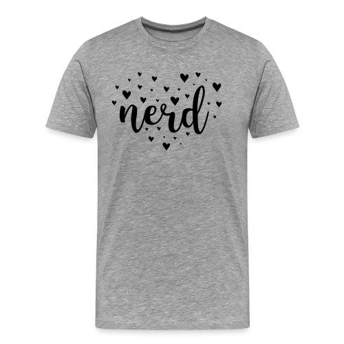 Inverted heart nerd - Men's Premium T-Shirt