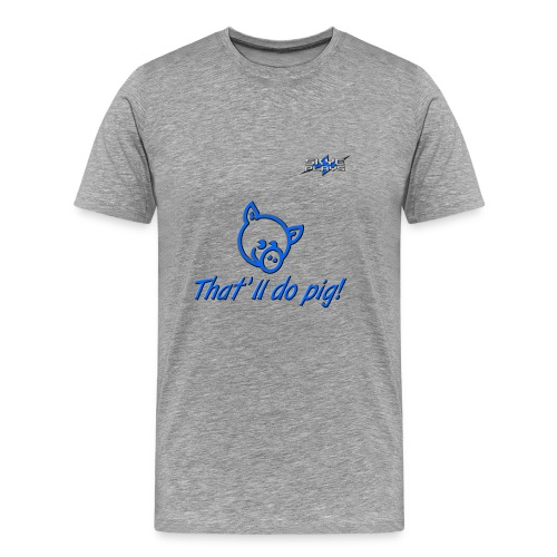 Skye Plays PIG TDP Blue 800ppi png - Men's Premium T-Shirt