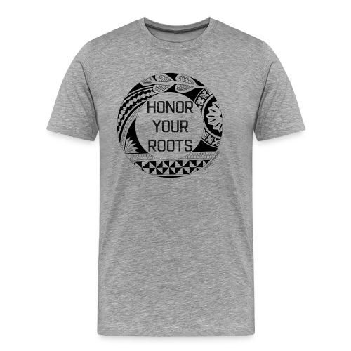 Honor Your Roots (Black) - Men's Premium T-Shirt