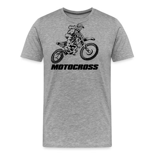 Motocross Logo Black - Men's Premium T-Shirt