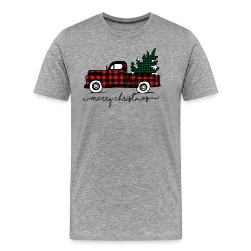 Old Vintage Truck Merry Christmas Shirt - Men's Premium T-Shirt