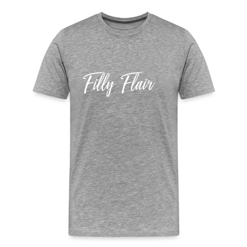 fillyflair white logo - Men's Premium T-Shirt