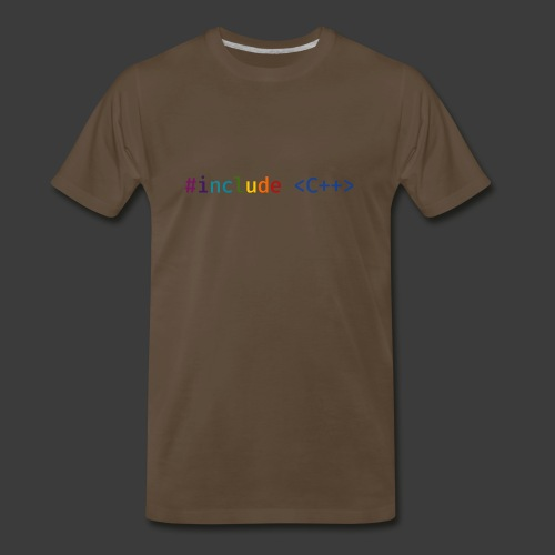 Rainbow Include C++ (Light Background) - Men's Premium T-Shirt