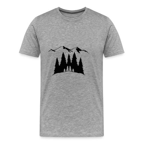 Mountains Trees - Men's Premium T-Shirt