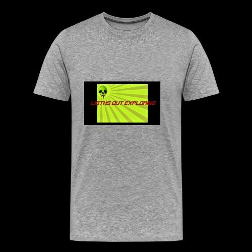 i love ligths out exploring - Men's Premium T-Shirt
