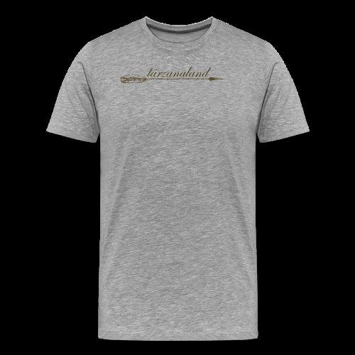 tarzanaland logo custom brown design - Men's Premium T-Shirt