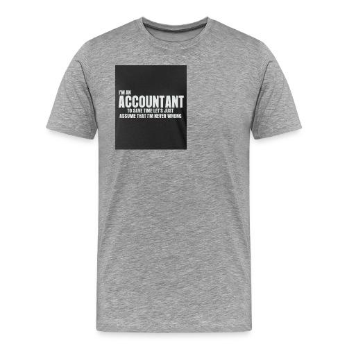 accountant - Men's Premium T-Shirt
