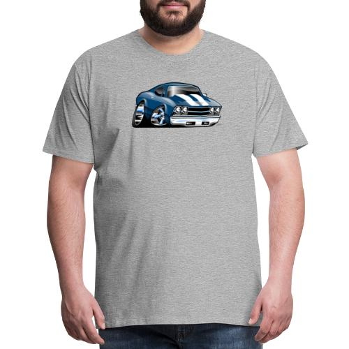 69 Muscle Car Cartoon - Men's Premium T-Shirt
