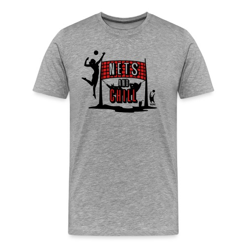 Nets And Chill Volleyball Team 2019 - Men's Premium T-Shirt