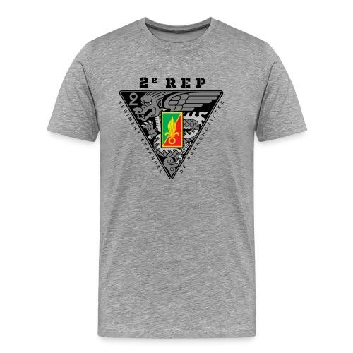 2e REP - Foreign Legion - Badge - Dark - Men's Premium T-Shirt