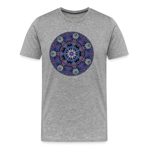 purple fractal pattern - Men's Premium T-Shirt