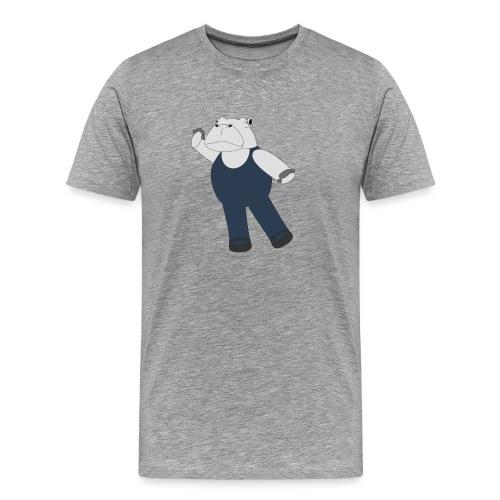 Hippo Ballet Dancer - Men's Premium T-Shirt