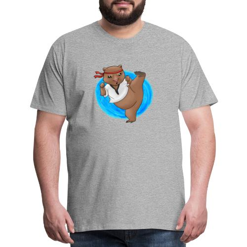 Wombat in Action - Men's Premium T-Shirt