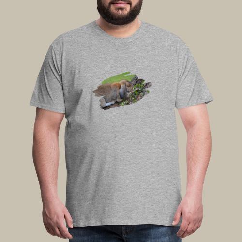 French Lop Brush Stroke - Men's Premium T-Shirt