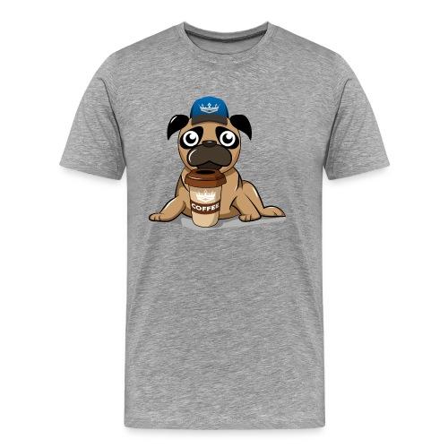 Coffee pug - Men's Premium T-Shirt
