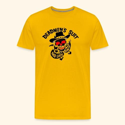 Deadmen's Suit Bad Luck#Skull - Men's Premium T-Shirt