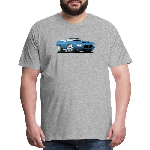 American Classic Seventies Convertible Car Cartoon - Men's Premium T-Shirt