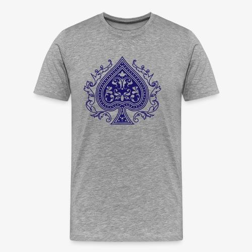 Ace Spade 02 Blue - Men's Premium T-Shirt