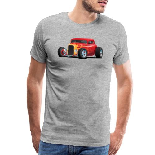 Classic Bold Red Custom Street Rod - Men's Premium T-Shirt