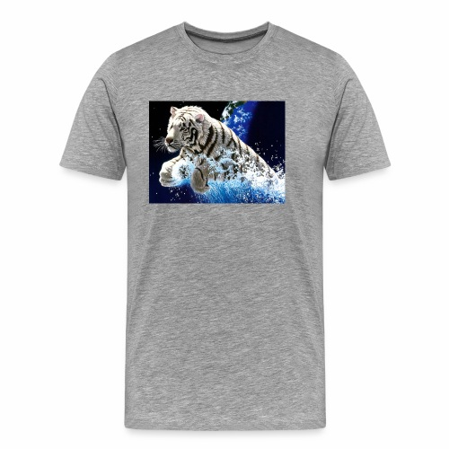 desktop year of the tiger images wallpaper - Men's Premium T-Shirt