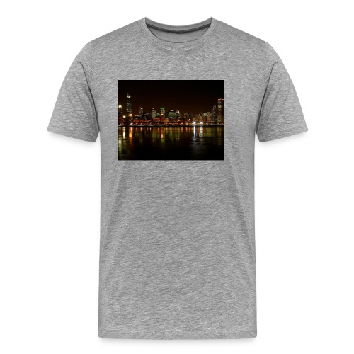 chicago skyline - Men's Premium T-Shirt