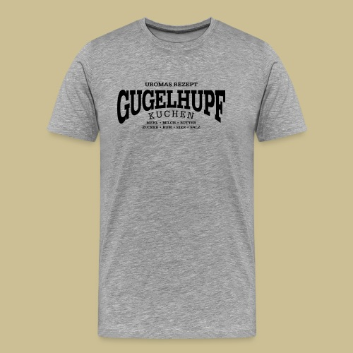 Gugelhupf (black) - Men's Premium T-Shirt