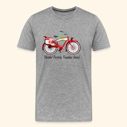 Parallel Parking Troubles Eliminated by Bicycle - Men's Premium T-Shirt