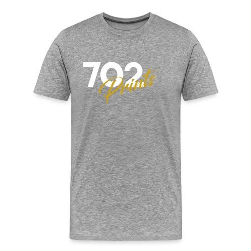 702 Prints Logo White - Men's Premium T-Shirt