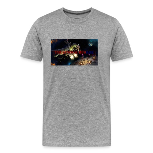 TyrannosaurusAXE-colorized - Men's Premium T-Shirt