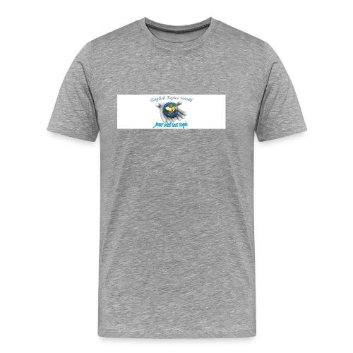 English Topics World - Men's Premium T-Shirt