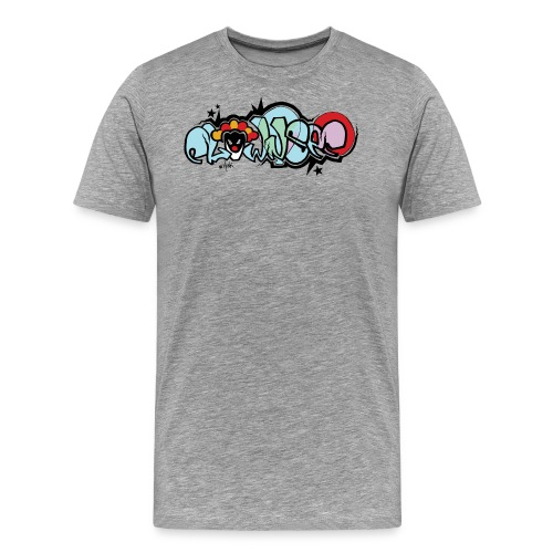 clownsec graffiti2 gif - Men's Premium T-Shirt