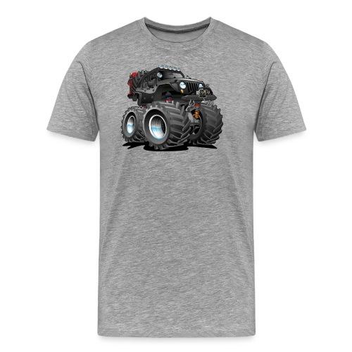 Off road 4x4 black jeeper cartoon - Men's Premium T-Shirt