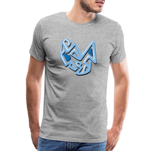 abstract blue design - Men's Premium T-Shirt