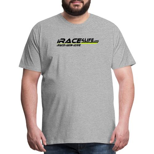 iRace4Life.org Logo with iRace-iWin-iGive! - Men's Premium T-Shirt