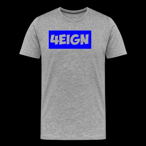 4eign logo BLUE - Men's Premium T-Shirt