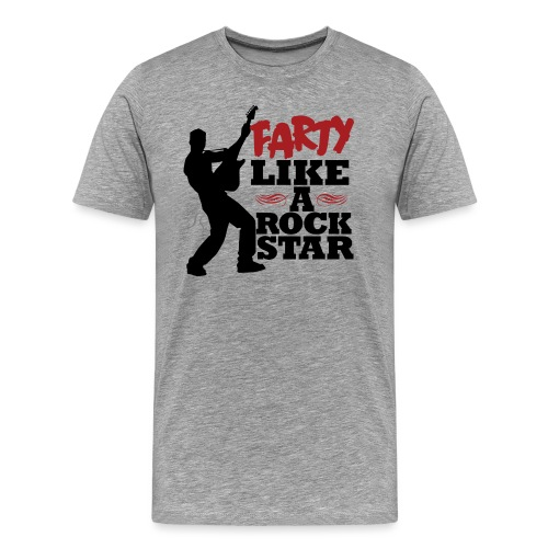 Farty Like A Rock Star - Men's Premium T-Shirt