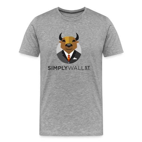 Simply Wall St T-Shirt with Bull Logo - Men's Premium T-Shirt