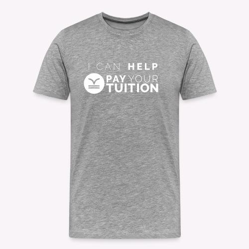 White PYT Logo - Men's Premium T-Shirt