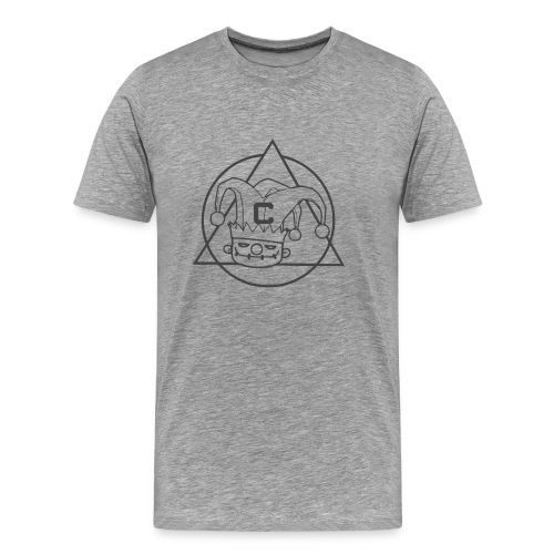 triangulo clown cinza png - Men's Premium T-Shirt