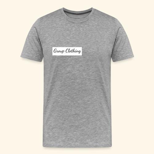Cursive Black and White Hoodie - Men's Premium T-Shirt