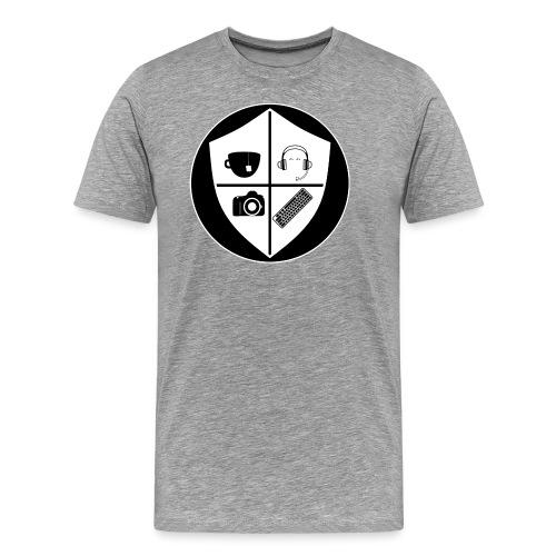 Punk Who Drinks Tea Crest (Inverted) - Men's Premium T-Shirt