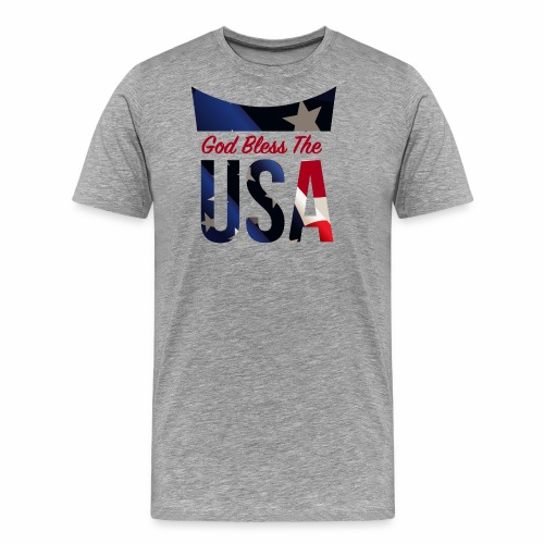God Bless The USA Veterans T-Shirts - Men's Premium T-Shirt