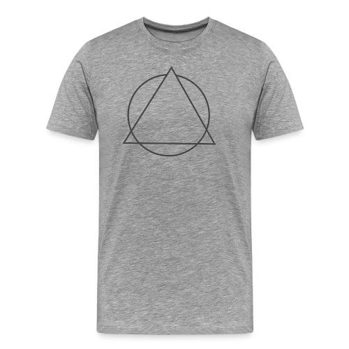 triangulo sem clown cinza png - Men's Premium T-Shirt