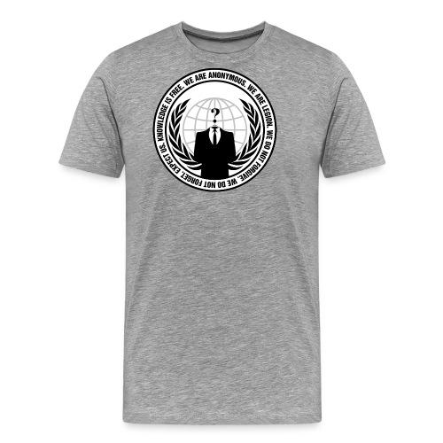 Anonymous Logo With Slogan png - Men's Premium T-Shirt
